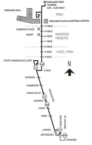 DETROIT TRANSIT HISTORYinfo DDOT Suburban Bus Routes 1994